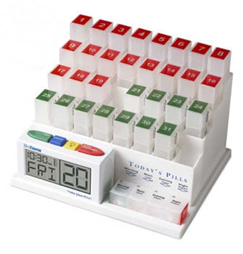 MedCenter 31-Day Monthly Pill Organizer and Talking Pill Reminder System