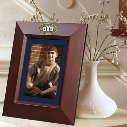 """Brigham Young (BYU) Cougars 5"""" x 7"""" Vertical Brown Picture Frame"""