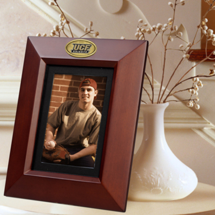 """UCF (Central Florida) Knights 5"""" x 7"""" Vertical Brown Picture Frame"""