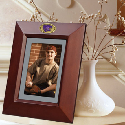"""Kansas State Wildcats 5"""" x 7"""" Vertical Brown Picture Frame"""