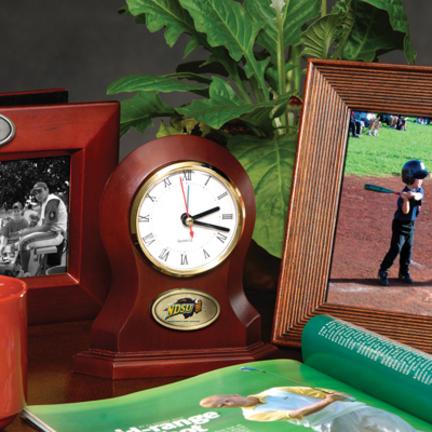 North Dakota State Bison Desk Clock MEM-COL-NDS-822