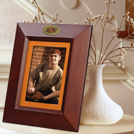"""Oklahoma State Cowboys 5"""" x 7"""" Vertical Brown Picture Frame"""