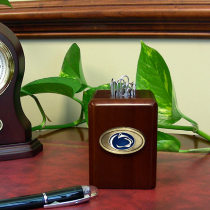 Penn State Nittany Lions Wood Paper Clip Holder