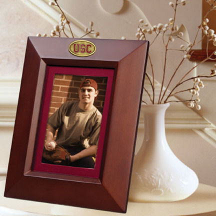 """USC Trojans 5"""" x 7"""" Vertical Brown Picture Frame"""