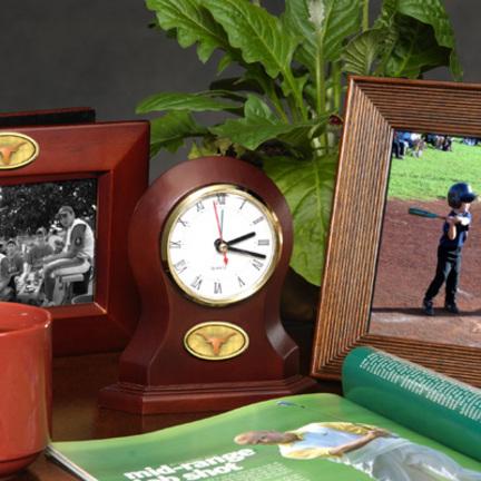 Texas Longhorns Desk Clocks Comparebig12 Com