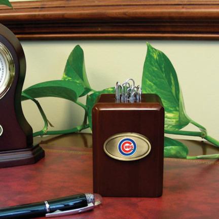 Chicago Cubs Wood Paper Clip Holder MEM-MLB-CCU-573