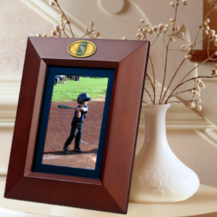 """Seattle Mariners 5"""" x 7"""" Vertical Brown Picture Frame"""