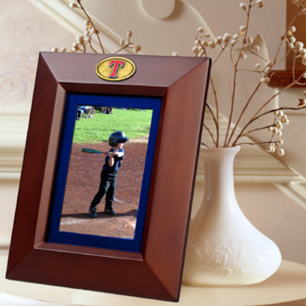 """Texas Rangers 5"""" x 7"""" Vertical Brown Picture Frame"""