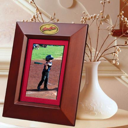 "Pawtucket Red Sox 5"" x 7"" Vertical Brown Picture Frame"