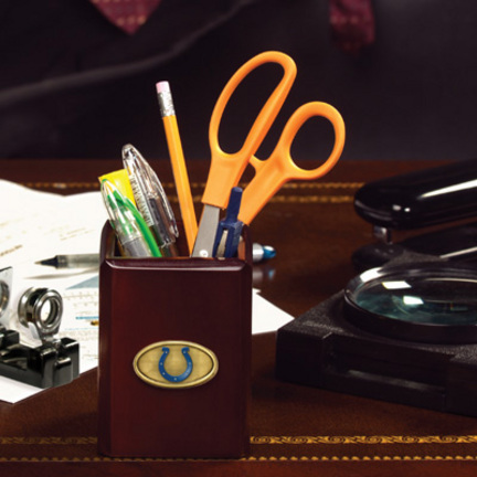 This Attractive Indianapolis Colts Pen And Pencil Holder Will Be An Elegant  Addition To Any Office