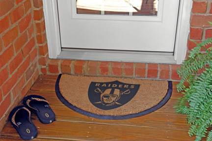 Oakland Raiders Half Moon Door Mat