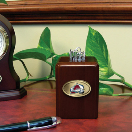 Colorado Avalanche Wood Paper Clip Holder