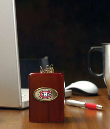 Montreal Canadiens Wood Paper Clip Holder