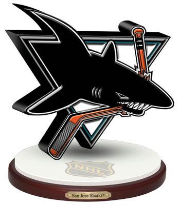 """San Jose Sharks """"""""3D Logo"""""""" Figurine"""" MEM-NHL-SJS-200"""