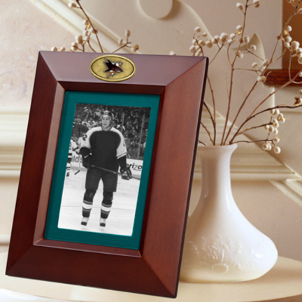 """San Jose Sharks 5"""" x 7"""" Vertical Brown Picture Frame"""