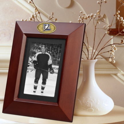"""Tampa Bay Lightning 5"""" x 7"""" Vertical Brown Picture Frame"""