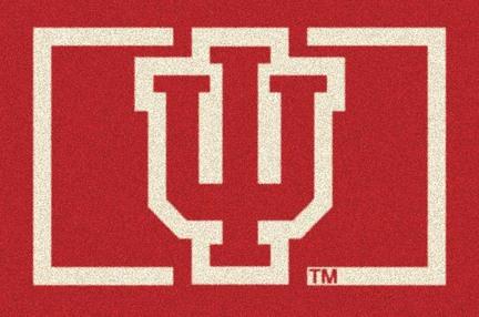 """Indiana Hoosiers """"IU"""" 4' x 6' Team Door Mat"""