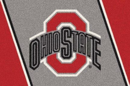 Ohio State Buckeyes (Red O) 5' x 8' Team Door Mat