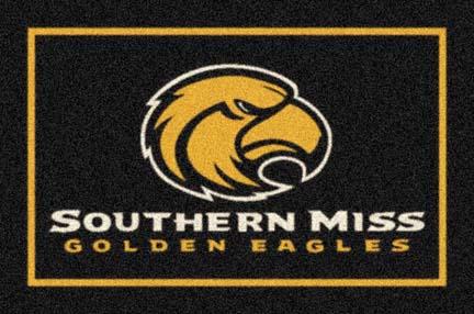 """Southern Mississippi Golden Eagles 33"""" x 45"""" Team Door Mat"""