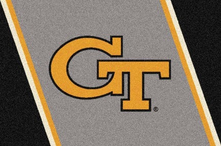 "Georgia Tech Yellow Jackets ""GT"" 7' 8"" x 10' 9"" Team Spirit Area Rug"
