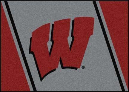 "Wisconsin Badgers ""W"" 2'8""x 3'10"" Team Spirit Area Rug"