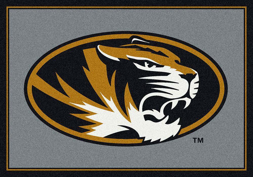 """Missouri Tigers 7' 8"""" x 10' 9"""" Team Spirit Area Rug"""