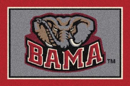 "Alabama Crimson Tide ""BAMA"" 7' 8"" x 10' 9"" Team Spirit Area Rug"