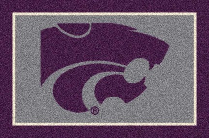Kansas State Wildcats 7ft 8in x 10ft 9in Team Spirit Area Rug