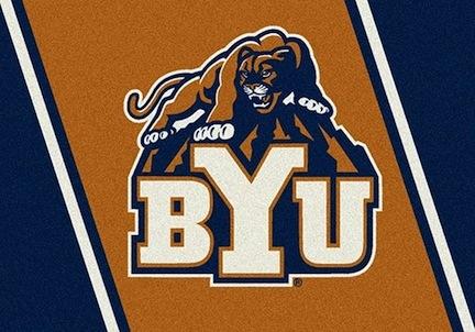 "Brigham Young (BYU) Cougars 3'10"" x 5'4"" Team Spirit Area Rug"