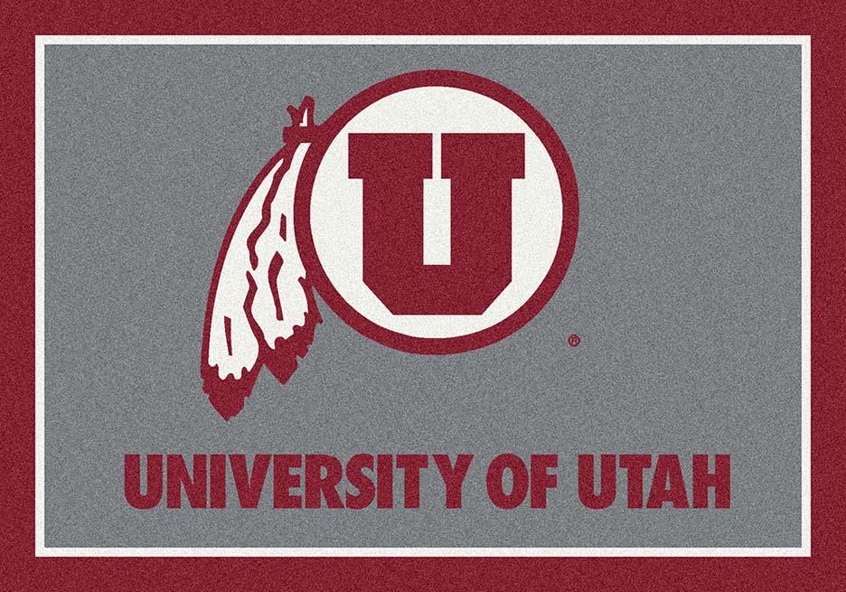"""Utah Utes 5'4""""x 7' 8"""" Team Spirit Area Rug"""
