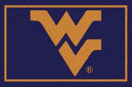 West Virginia Mountaineers 7ft 8in x 10ft 9in Team Spirit Area Rug