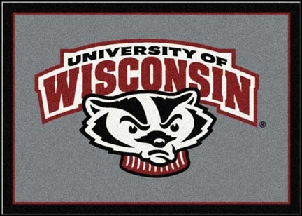 Wisconsin Badgers Mascot 7ft 8in x 10ft 9in Team Spirit Area Rug
