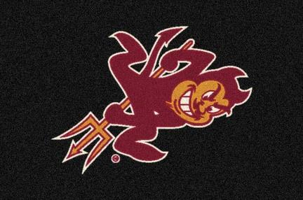 "Arizona State Sun Devils """"Devil"""" 3'10""""x 5'4"""" Team Spirit Area Rug"" MI-533315-200-79540"