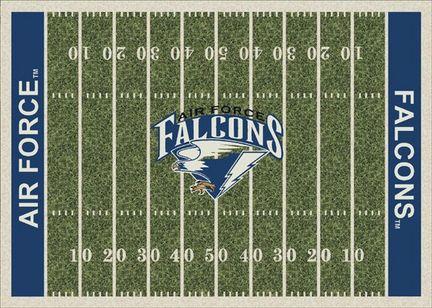 """Air Force Academy Falcons 7' 8"""" x 10' 9"""" NCAA Home Field Area Rug"""