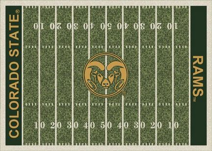 "Colorado State Rams 7' 8"" x 10' 9"" NCAA Home Field Area Rug"