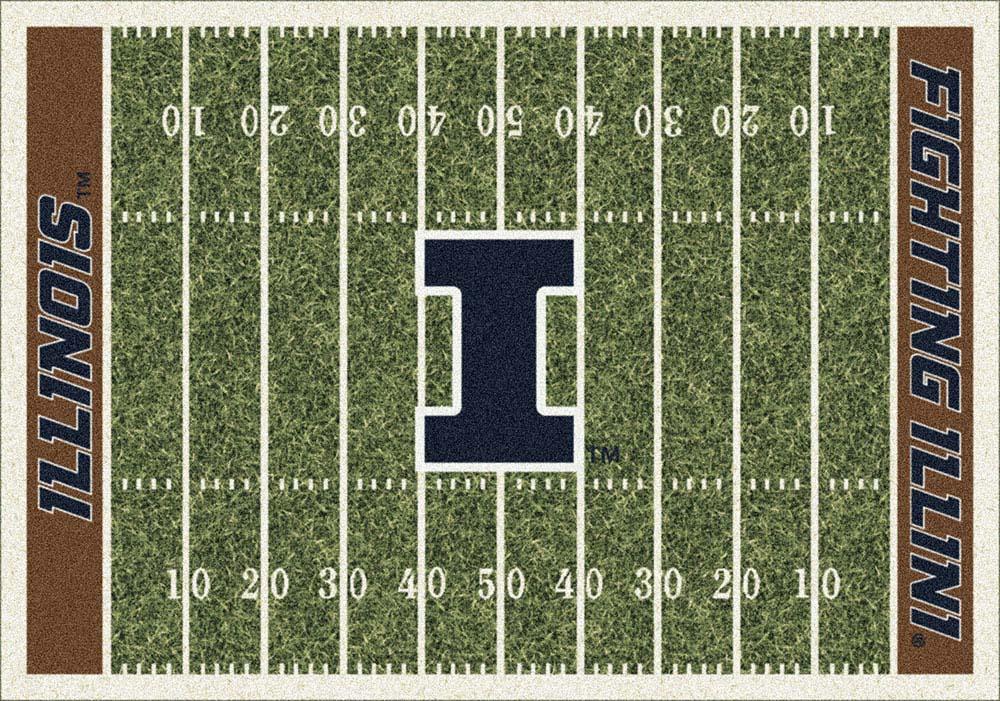 "Illinois Fighting Illini 5' 4"" x 7' 8"" NCAA Home Field Area Rug"