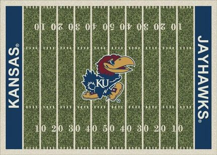 Kansas Jayhawks 7ft 8in x 10ft 9in NCAA Home Field Area Rug