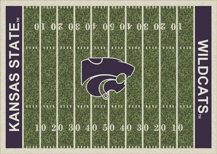 "Kansas State Wildcats 7' 8"" x 10' 9"" NCAA Home Field Area Rug"