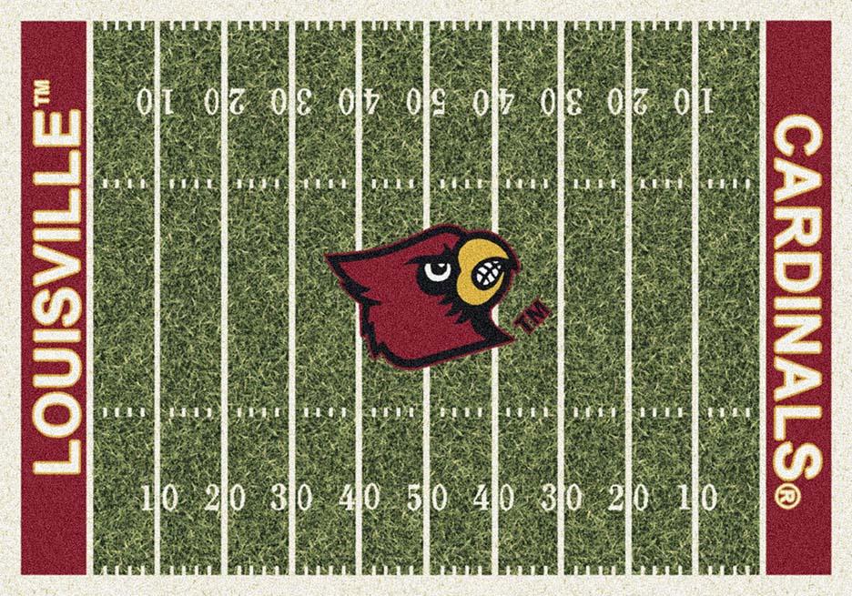 "Louisville Cardinals 7' 8"" x 10' 9"" NCAA Home Field Area Rug"