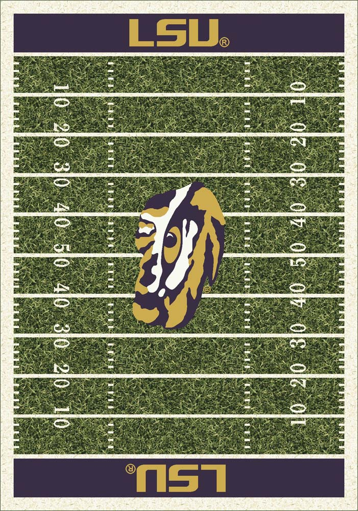 "Louisiana State (LSU) Tigers 5' 4"" x 7' 8"" NCAA Home Field Area Rug"