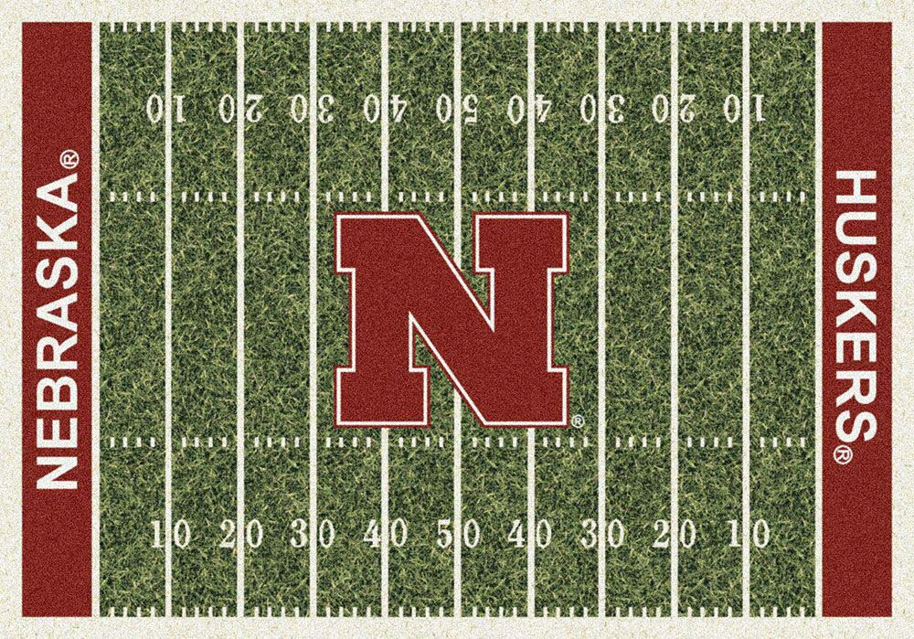 Nebraska Cornhuskers 5ft 4in x 7ft 8in NCAA Home Field Area Rug