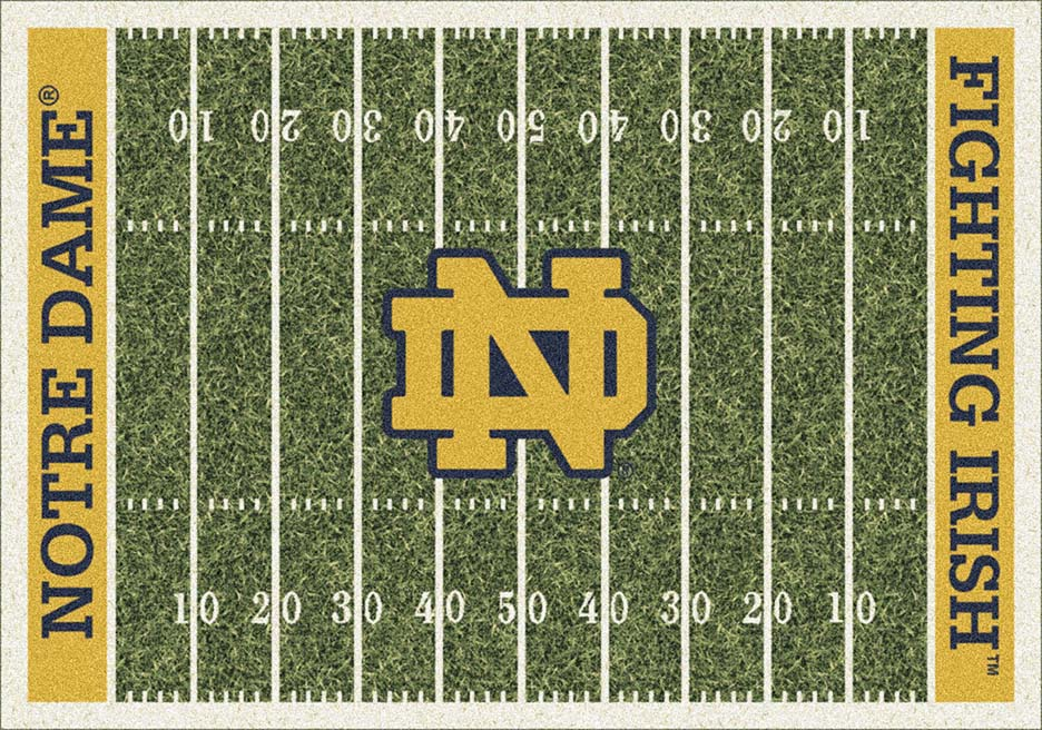 Notre Dame Fighting Irish 5ft 4in x 7ft 8in NCAA Home Field Area Rug