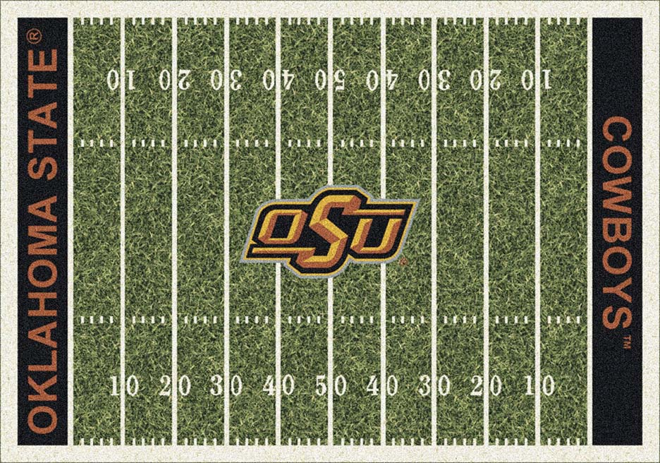 Oklahoma State Cowboys 7ft 8in x 10ft 9in NCAA Home Field Area Rug