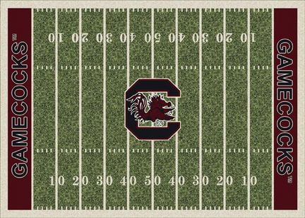 South Carolina Gamecocks 7ft 8in x 10ft 9in NCAA Home Field Area Rug