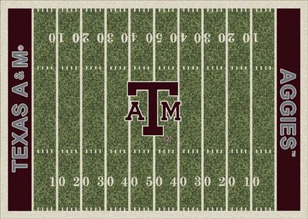 Texas A & M Aggies 7ft 8in x 10ft 9in NCAA Home Field Area Rug