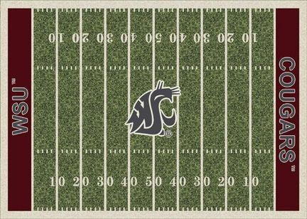 "Washington State Cougars 7' 8"" x 10' 9"" NCAA Home Field Area Rug"