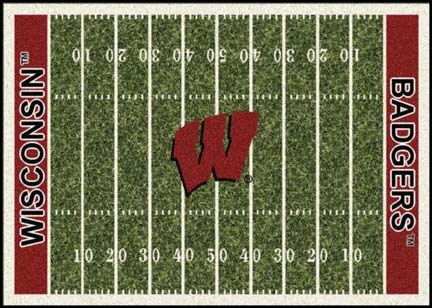 Wisconsin Badgers 7ft 8in x 10ft 9in NCAA Home Field Area Rug