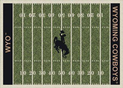 "Wyoming Cowboys 5' 4"" x 7' 8"" NCAA Home Field Area Rug"