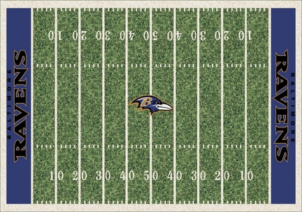"""Baltimore Ravens 7' 8"""" x 10' 9"""" NFL Home Field Area Rug"""