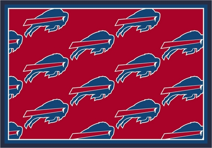 "Buffalo Bills 5' 4"" x 7' 8"" Team Repeat Area Rug (Red)"